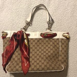 Gucci Positano bag with scarf